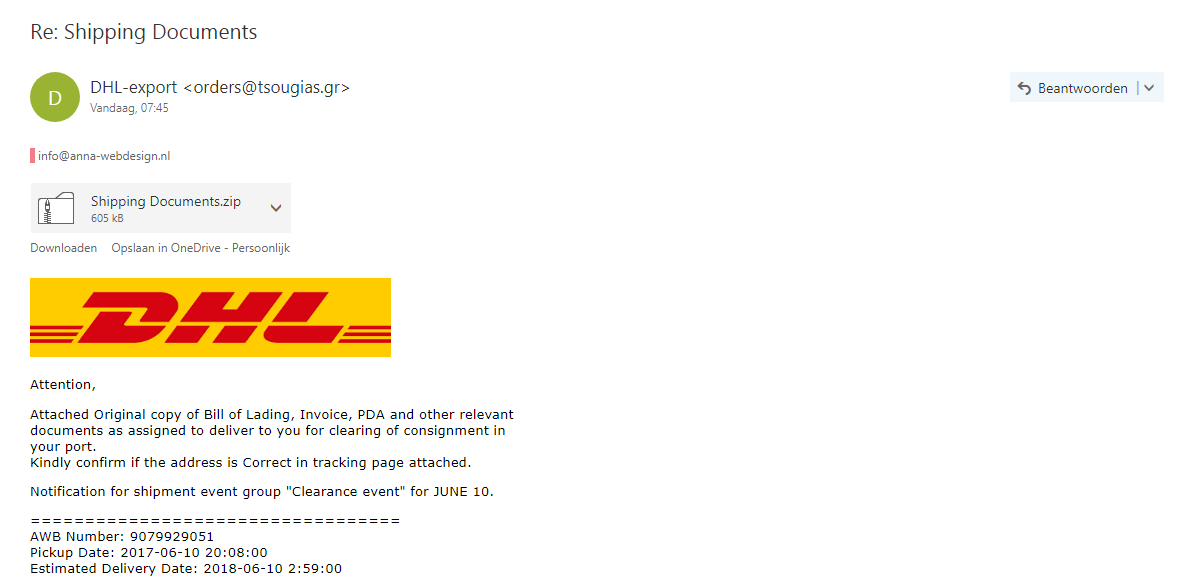 DHL Export – NEP!!!