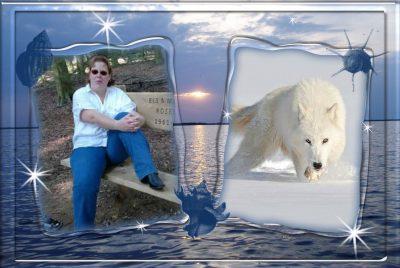Susanne en haar witte herdershond