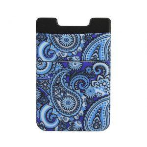 Pasjeshouder telefoon paisley blauw